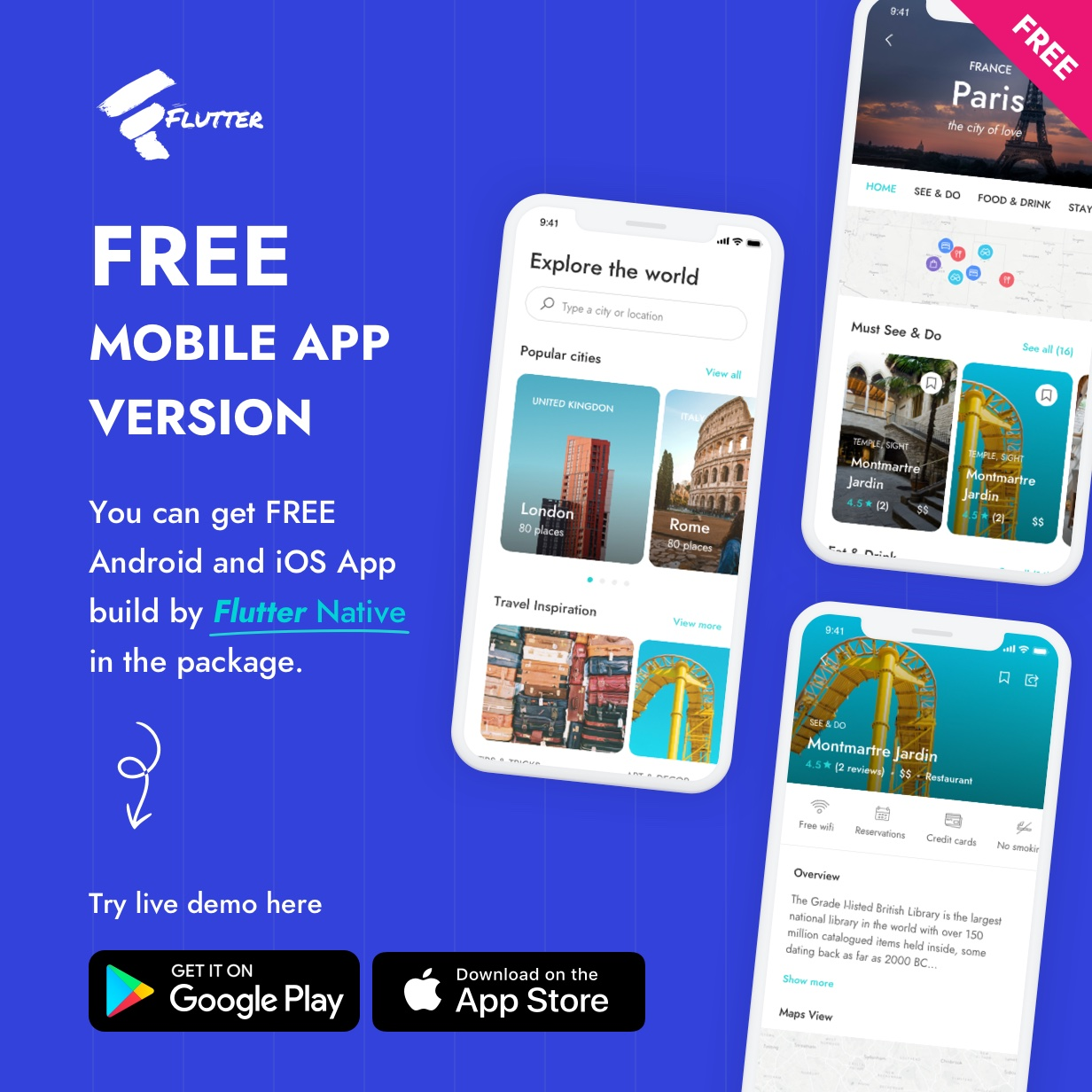 City Travel Guide Fluter App