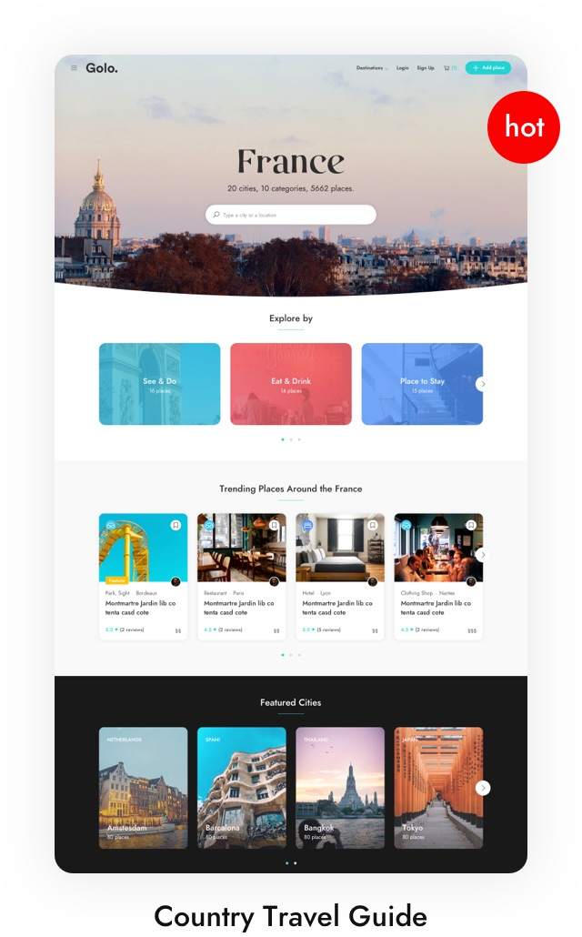 City Travel Guide WordPress Theme